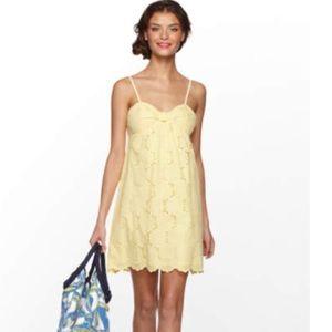 Lilly Pulitzer Kelley Dress Eyelet Lemon Sorbet